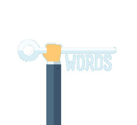 hand key words